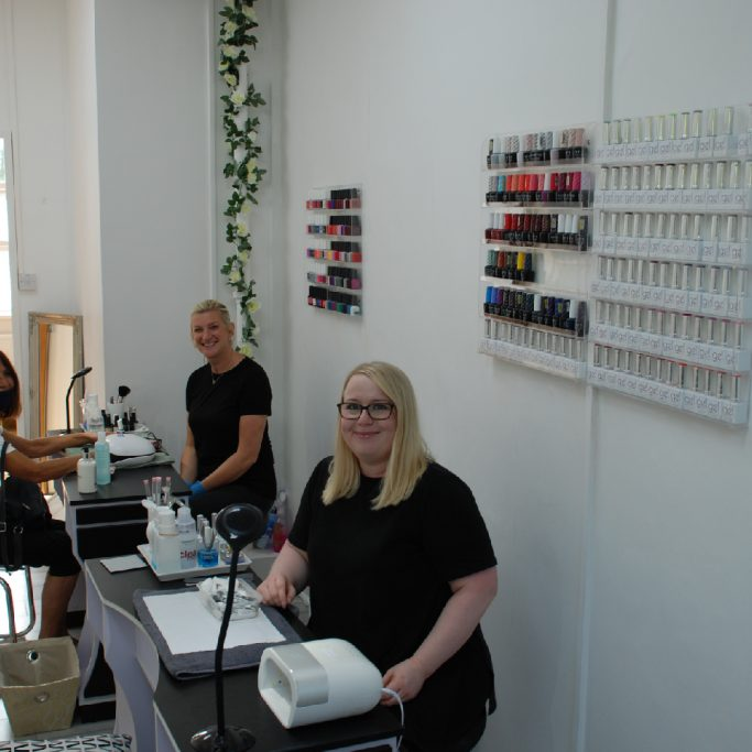 The team at 10 + 10 Nail Design busy at work at Worth Corner Business Centre