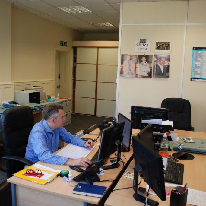 Doug Bennett's office at Worth Corner Business Centre